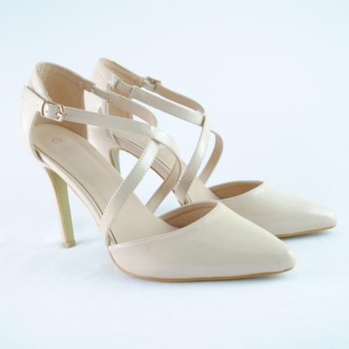 Pantofi cu toc Savana bej