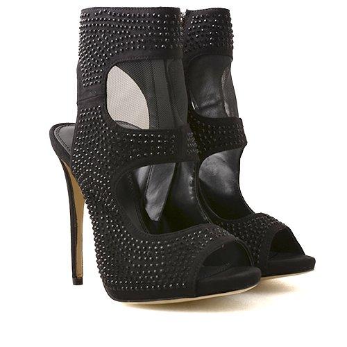 Sandale negre cu toc Passion