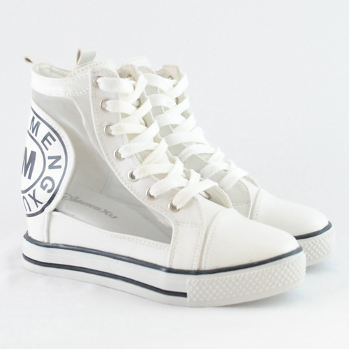 Sneakers dama cu platforma de vara Ranka alb